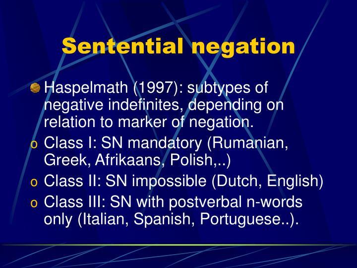 Sentential negation
