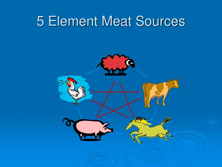 5 Element Meat Sources