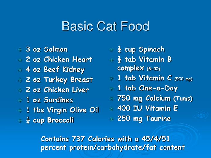 Basic Cat Food