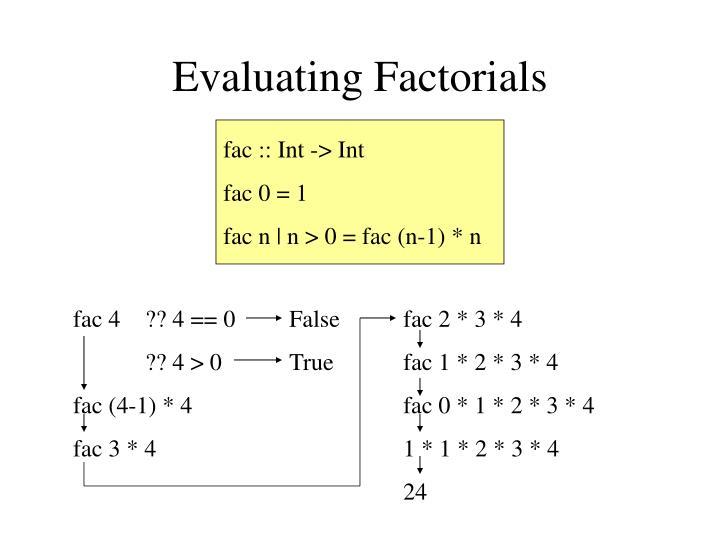 Evaluating Factorials