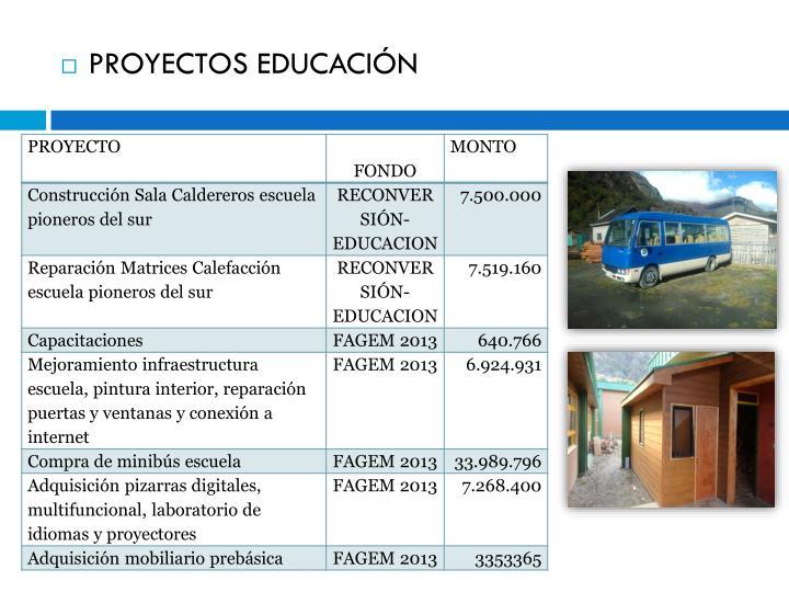 PROYECTOS EDUCACIÓN