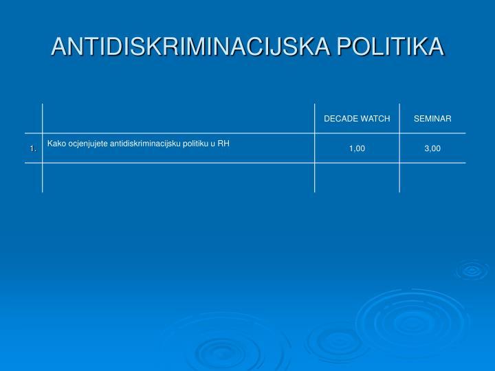 ANTIDISKRIMINACIJSKA POLITIKA
