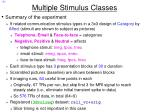 multiple stimulus classes