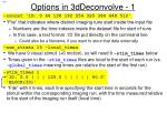 options in 3ddeconvolve 1