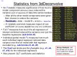 statistics from 3ddeconvolve
