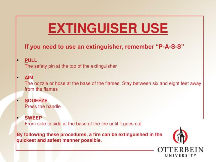 EXTINGUISER USE