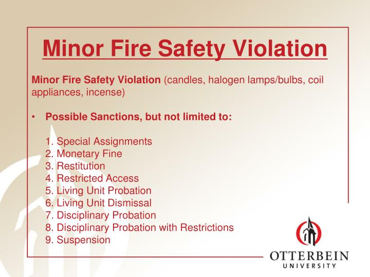 Minor Fire Safety Violation
