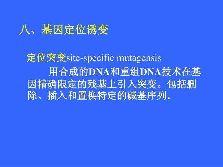 八、基因定位诱变