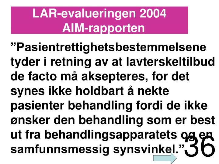 LAR-evalueringen 2004