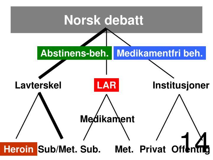 Norsk debatt