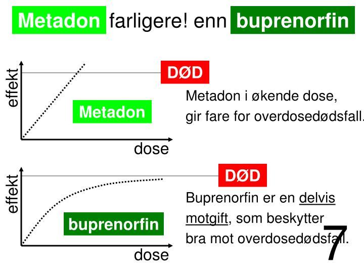 Metadon i økende dose,