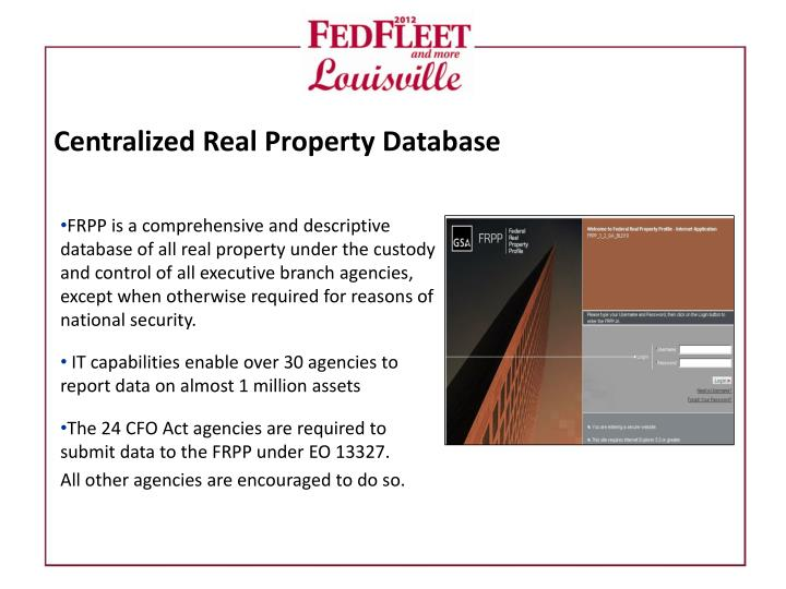 Centralized Real Property Database