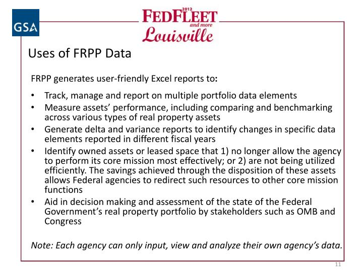 Uses of FRPP Data