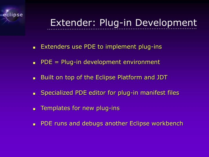 Extender: Plug-in Development