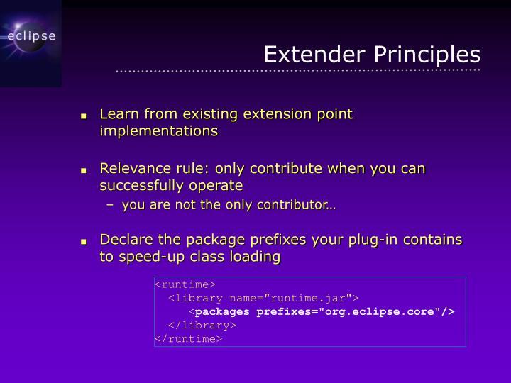 Extender Principles