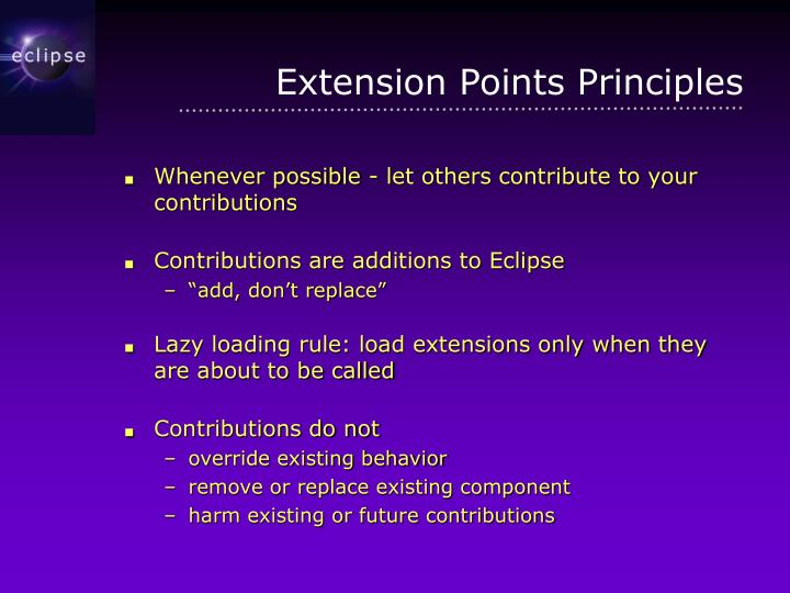 Extension Points Principles
