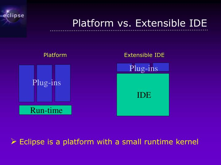 Platform vs extensible ide