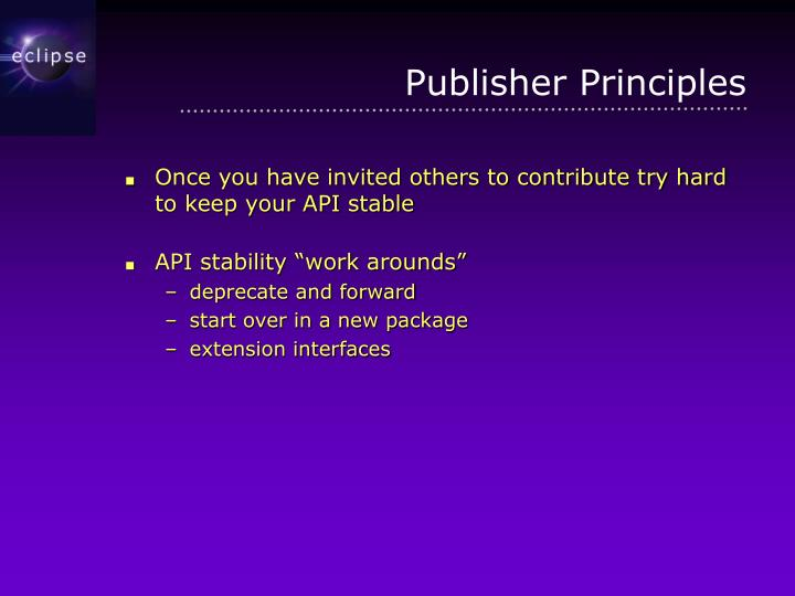 Publisher Principles
