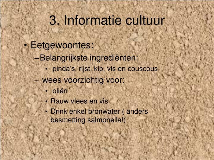 3. Informatie cultuur