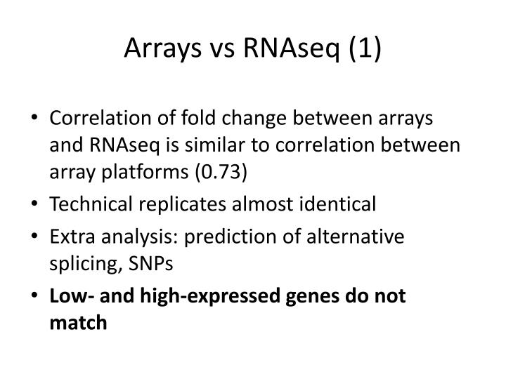 Arrays vs RNAseq (1)