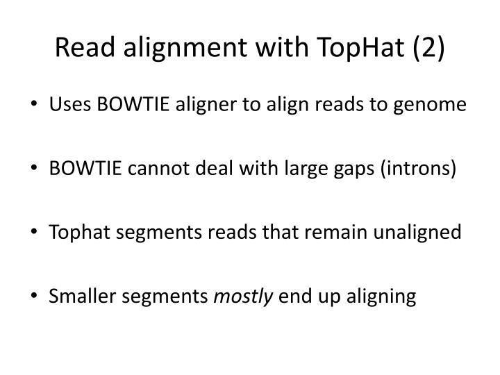 Read alignment with TopHat (2)