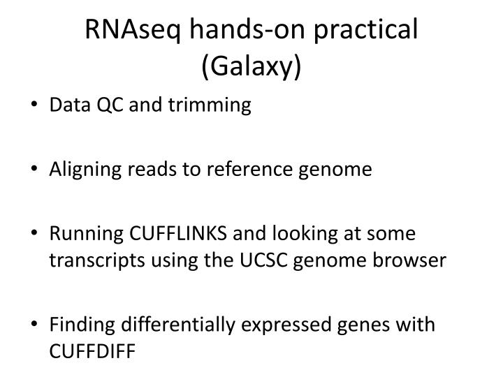 RNAseq hands-on practical (Galaxy)