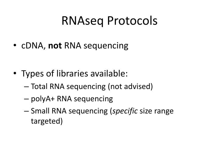 RNAseq Protocols