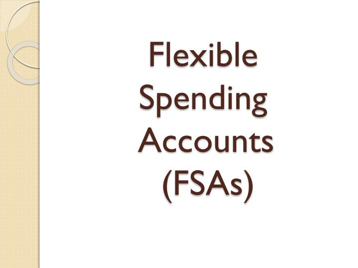 Flexible spending accounts fsas