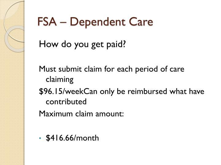 FSA – Dependent Care