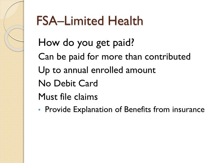 FSA–Limited Health