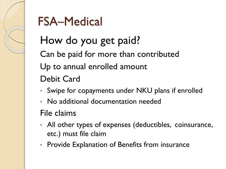 FSA–Medical