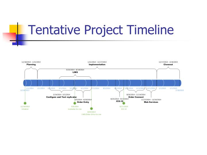 Tentative Project Timeline
