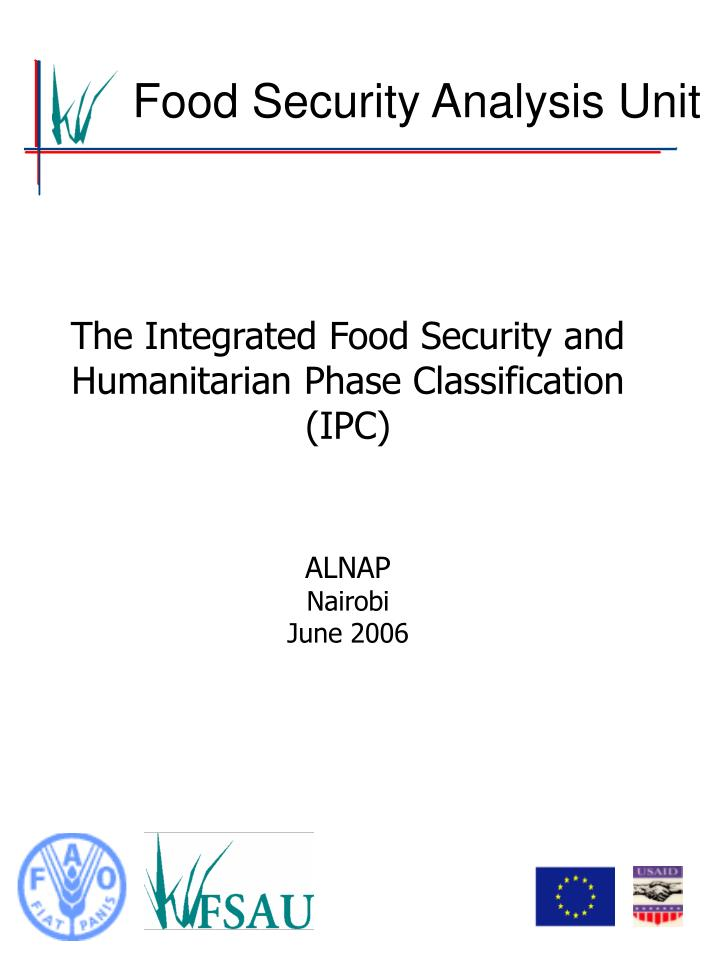 Food Security Analysis Unit