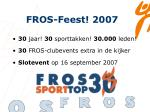 fros feest 2007