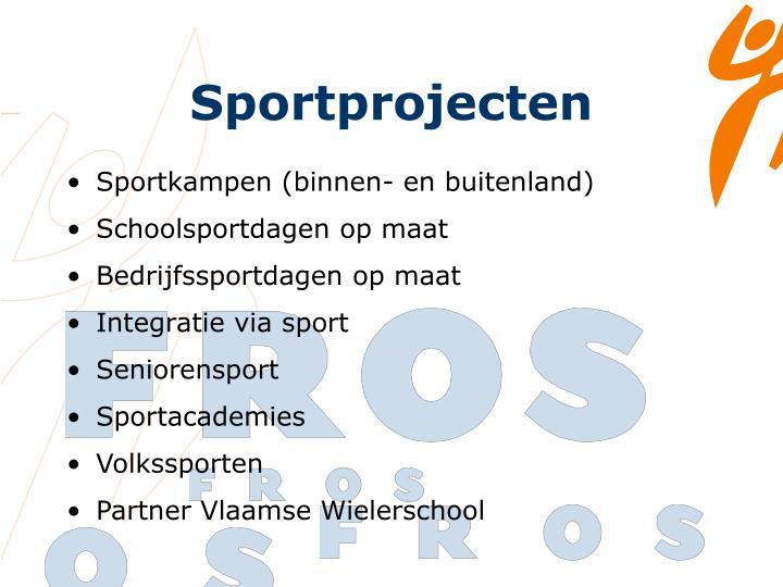 Sportprojecten