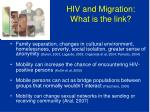 hiv and migration what is the link