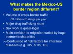 what makes the mexico us border region different