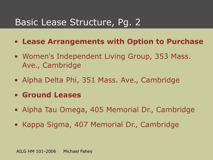 Basic Lease Structure, Pg. 2