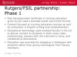 rutgers fsil partnership phase 1
