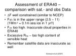 assessment of era40 comparison with sat and obs data