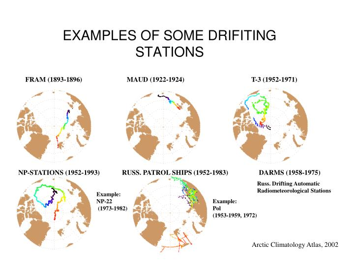 EXAMPLES OF SOME DRIFITING STATIONS