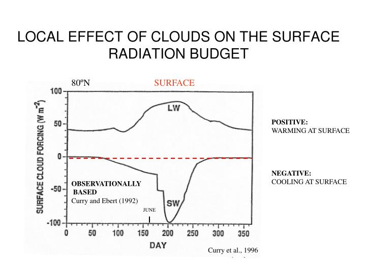 LOCAL EFFECT OF CLOUDS ON THE SURFACE RADIATION BUDGET