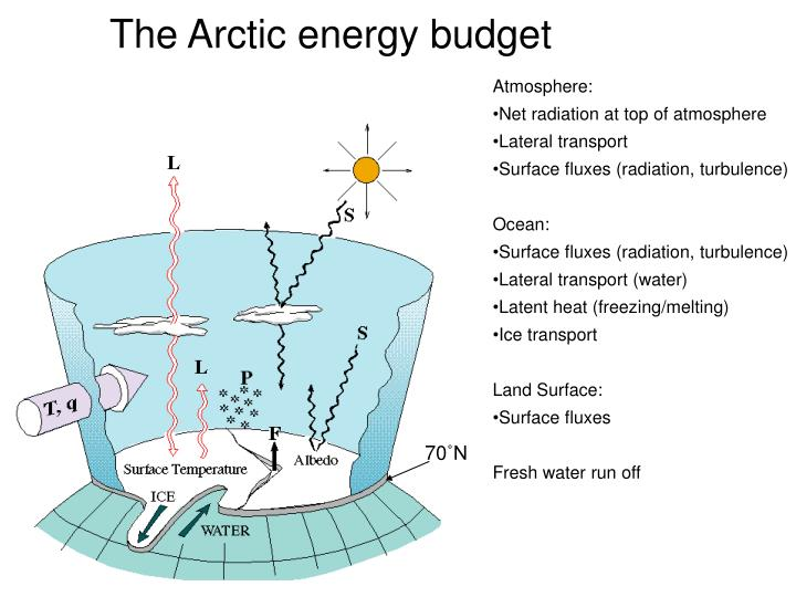 The Arctic energy budget