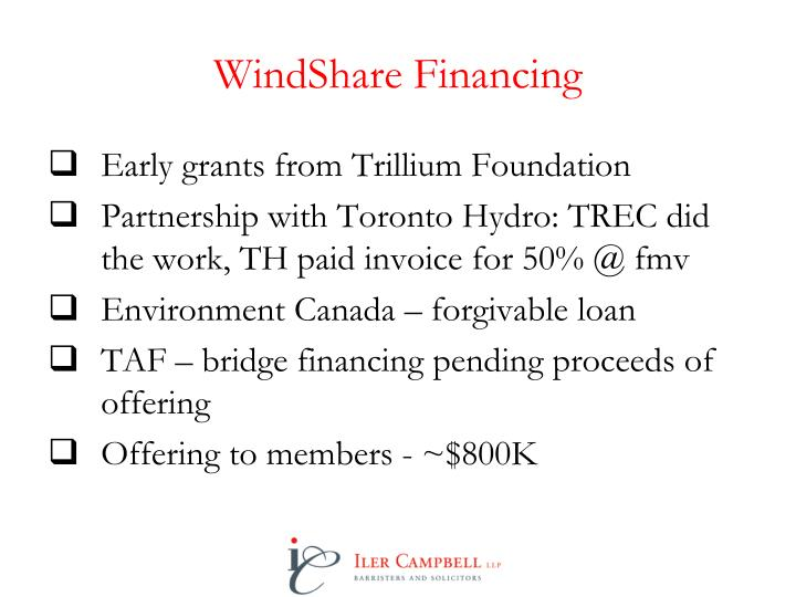 WindShare Financing