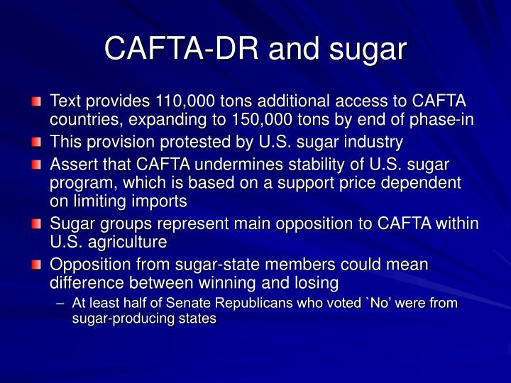 CAFTA-DR and sugar