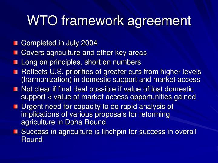 WTO framework agreement