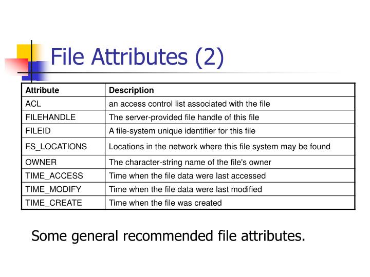 File Attributes (2)