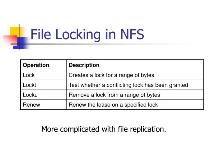 File Locking in NFS
