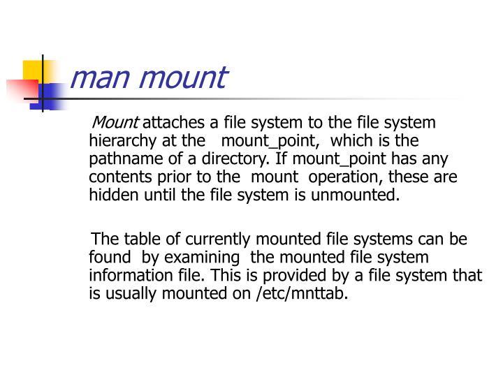 man mount