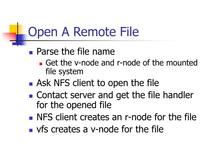 Open A Remote File